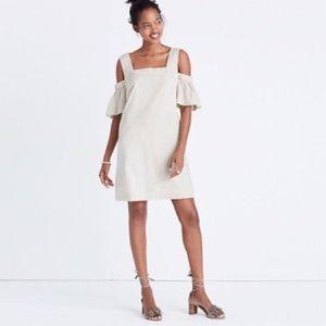 Madewell Off the shoulder pinstripe summer dress